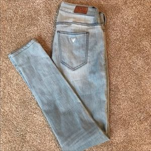 jean guess nicole,guess light blue nicole skinny stretch